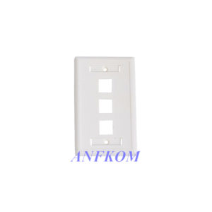 Faceplate 120 type 3 Port