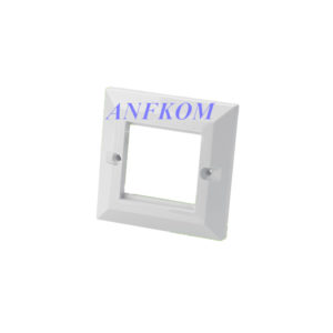 Faceplate Bevelled UK type 2 Port 86x86mm
