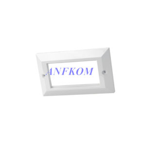 Faceplate Bevelled UK type 4 Port 86x86mm