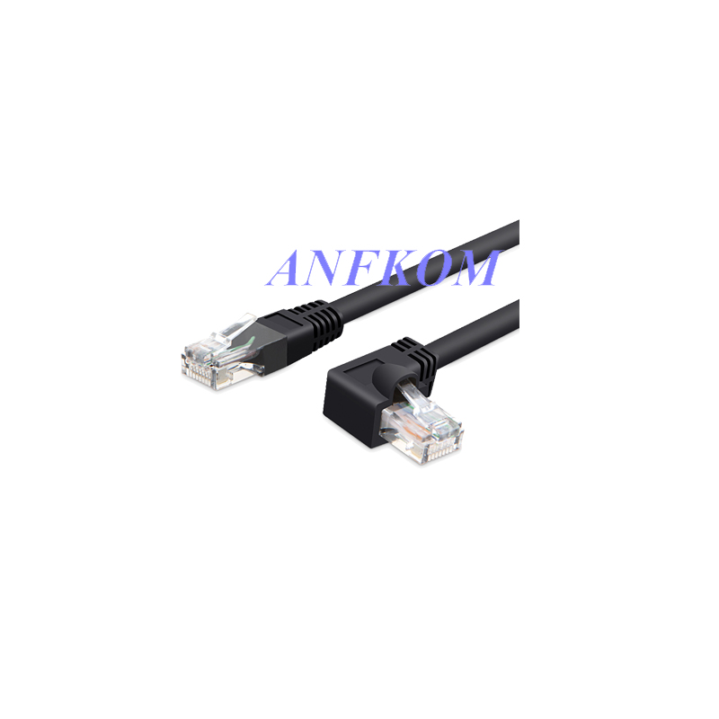 cat5 utp side angled l shape rj45 patch cord 90 degree